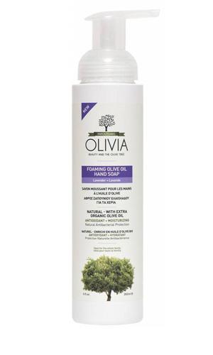 Olivia Foaming Olive Oil Hand Zeep Lavendel