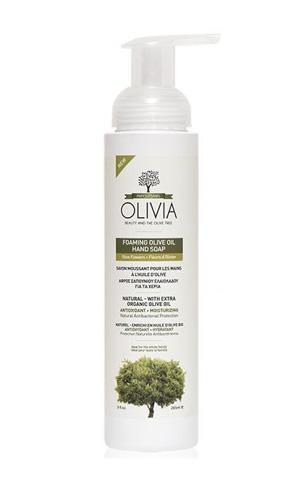 Olivia Foaming Olive Oil Hand Zeep Olive Flower